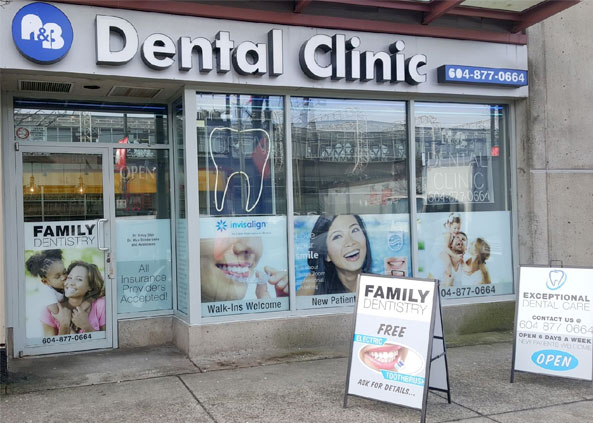 Front office of A&B Dental Clinic